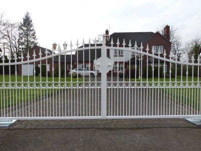 large decorative electric gates