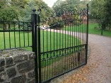 metal electric entrance gates