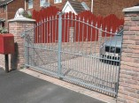 double galvanised metal gates