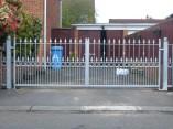 galvanised metal driveway gates
