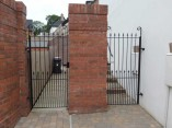 double garden gate