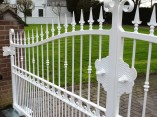 white security gates