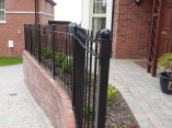 Curved Railings Front Of House