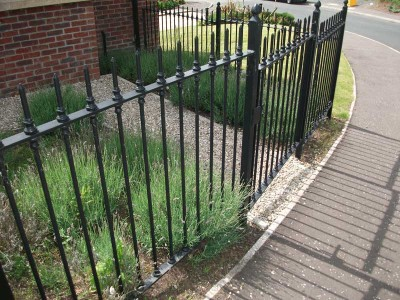 black garden railings lisburn