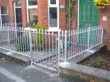 galvanised spike top railings