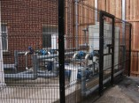 black-powder-coated-fencing-panels
