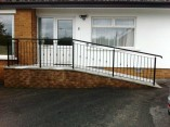 entrance metal handrails