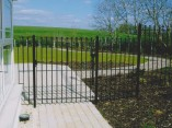 powder coated black metal railings