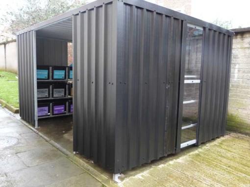 recycling shelter queen unversity belfast