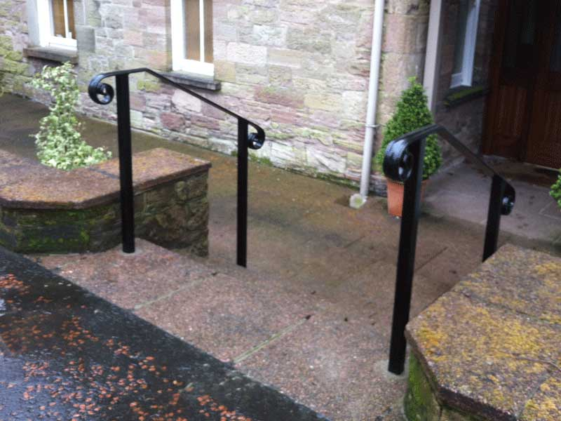 Steel handrails northern ireland bam fabrications - Metal railings for stairs exterior ...