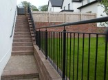 outdoor stairway handrail
