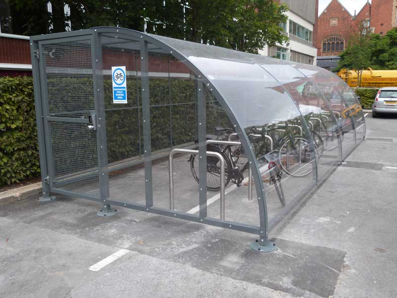 Secure Bike Shelters : Secure cycle compounds bam fabrications