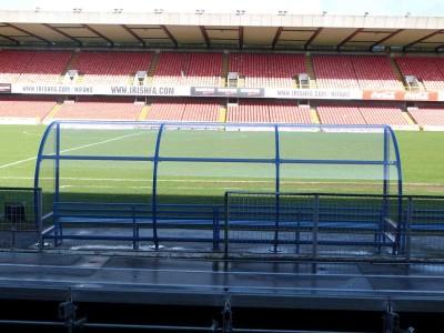 linfield football stadium football dugouts